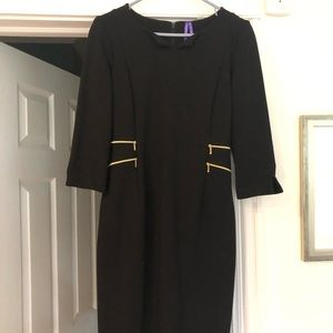 Seraphine Black Zip Detail Maternity Dress
